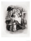 "Mrs. Gamp, from ""Charles Dickens: a Gossip About His Life,"" by Thomas Archer, Published circa 1894 Giclee Print by Frederick Barnard"