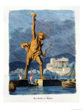 "The Colossus of Rhodes, from a Series of the ""Seven Wonders of the Ancient World"" Giclee Print by Ferdinand Knab"