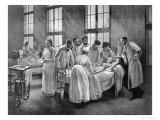 The Croup Cured by Doctor Roux Giclée-tryk af Pierre Andre Brouillet