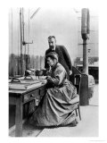 Pierre and Marie Curie in Their Laboratory, circa 1903 Giclee Print