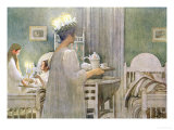 The Feast of St. Lucy on 13th December, 1916 Giclee Print by Carl Larsson
