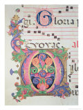 Historiated Initial &quot;O&quot; Giclee Print by Zanobi Di Benedetto Strozzi