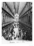 St. Hubert Gallery at Brussels, circa 1900 Giclee Print by Wilhelm Hoffmann