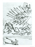 "The Battle of the Lake, Sketch of a Scene from the Film ""Alexander Nevsky,"" 1938 Giclee Print by Sergei Eisenstein"