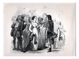 "Madame De Stael Questioning Napoleon Bonaparte About the Best Women, from ""Napoleon"" Giclee Print by Jules David"