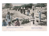 Postcard Depicting Young Muslim Women in Bosnia, 1904 Giclee Print