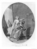 Madame De Merteuil Seducing Cecile Volange, Illustration from &quot;Les Liaisons Dangereuses&quot; Giclee Print by Niclas II Lafrensen