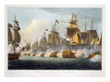 "Battle of Trafalgar, October 21st 1805, from ""The Naval Achievements of Great Britain"" Giclee Print by Thomas Whitcombe"