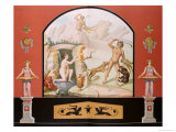 Actaeon Discovers the Goddess Diana at Her Bath, Reconstruction of a Fresco Premium Giclee Print by Vincenzo Loria