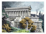 "Temple of Diana at Ephesus from a Series of the ""Seven Wonders of the Ancient World"" Giclee Print by Ferdinand Knab"