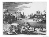 View of the Louvre and the Tuileries with a Stage Coach in the Foreground Giclee Print by Mattaus The Younger Merian