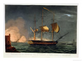Cutting out of the Hermione from the Harbour of Porto Cavallo, October 25th 1799 Giclee Print by Thomas Whitcombe