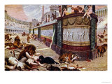 "Postcard Depicting the Bloody Games in the Arena in Rome, Illustration from ""Quo Vadis,"" 1910 Giclee Print by Jan Styka"
