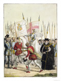 Queen Elizabeth I Rallying the Troops at Tilbury Before the Arrival of the Spanish Armada, 1588 Giclee Print by  Bramati