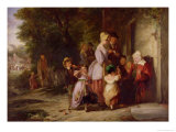 Returning from the Fair, 1837 Giclee Print by Thomas Webster