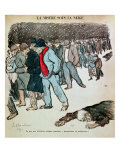 "The Misery of Workers and the Unemployed in the Snow, Illustration from ""Le Chambard Socialiste"" Giclee Print by Théophile Alexandre Steinlen"