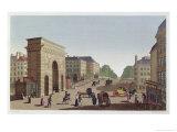 The Porte Saint Martin, circa 1815-20 Giclee Print by Henri Courvoisier-Voisin