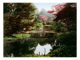 Japanese Ornamental Garden in Blossom Giclee Print by Kusakabe Kimbei