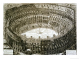 "Aerial View of the Colosseum in Rome from ""Views of Rome"" Giclee Print by Giovanni Battista Piranesi"