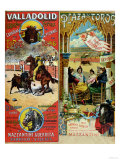 Posters Advertising Bull-Fights in Valladolid, 1896 and in Bayonne, 1897 Reproduction procédé giclée