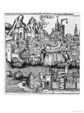 View of Basel, Illustration from the Chronicle of Nurnberg by Hartmann Schedel 1493, Giclee Print