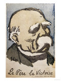 "Georges Clemenceau as ""Pere La Victoire,"" circa 1918-19 Giclee Print by  Sem"