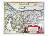 Map of the Holy Land, Published in Amsterdam, 1629 Giclee Print by Willem Janszoon Blaeu
