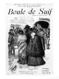 "Front Cover for ""Boule De Suif"" by Guy De Maupassant Early 20th Century Giclee Print by Pierre Georges Jeanniot"