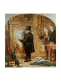 J. M. W.Turner at the Royal Academy, Varnishing Day Premium Giclee Print by William Parrott