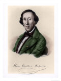 Portrait of Hans Christian Andersen Giclee Print by Johan Frederick Moller