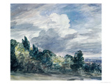 View over a Wide Landscape, with Trees in the Foreground, September 1832 Giclee Print by John Constable