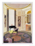 Interior with Furniture Giclee Print by Emile Jacques Ruhlmann