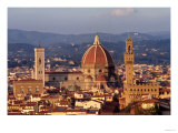 View of the Duomo and Palazzo Vecchio Giclee Print