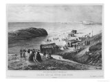 Baths of Cote Des Fous at Biarritz, 1840-60 Giclee Print by Julien & Bayot Jacottet
