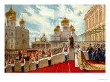 Coronation of Tsar Nicholas II and Tsarina Alexandra Feodorovna in 1896, 1896 Giclee Print