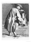 Selling Coffee, from the Series &quot;Les Cris De Paris,&quot; 1746 Giclee Print by Edme Bouchardon