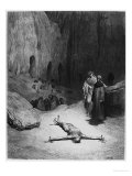 "Crucified Man, Illustration from ""The Divine Comedy"" by Dante Alighieri Paris, Published 1885 Giclee Print by Gustave Doré"