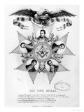 The Five Uncles of Freemasonry, 1848 Giclee Print