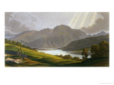 "Ben Nevis, Plate XII from ""Scenery of the Grampian Mountains,"" Exhibited 1811, Published 1819 Giclee Print by George Fennel Robson"