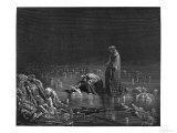 """Virgil and Dante, Illustration from """"The Divine Comedy"""" by Dante Alighieri Paris, Published 1885 Reproduction procédé giclée par Gustave Doré"""
