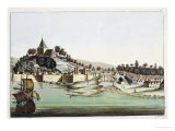 "The Port and Town of Malacca, Malaysia, Illustration from ""Le Costume Ancien Et Moderne"" Giclee Print by Gaetano Zancon"