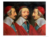 Triple Portrait of the Head of Richelieu, 1642 Premium Giclee Print by Philippe De Champaigne