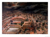 The Eruption of Vesuvius at Pompeii in 79 AD Giclee Print by Antonio Niccolini