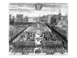 "Royal Garden of Stockholm, Illustration from ""Suecia Antiqua Et Hodierna,"" Late 17th Century Giclee Print by Johannes Van Den Aveele"