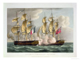 Capture of L'Immortalite, October 20th 1798 Giclee Print by Thomas Whitcombe