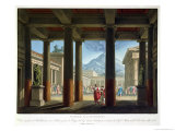 "Entrance to the Amphitheatre, Design for the Opera ""L'Ultimo Giorno Di Pompeii,"" 1827 Giclee Print by Alessandro Sanquirico"