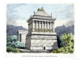 "The Mausoleum of Halicarnassus, from a Series of the ""Seven Wonders of the Ancient World"" Giclee Print by Ferdinand Knab"