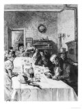 """The Vauquer Boarding House, Illustration from """"Le Pere Goriot"""" by Honore De Balzac 1900 Giclee Print by Albert Lynch"""