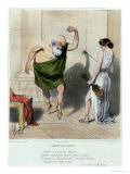 Socrates Visiting Aspasia Giclee Print by Honore Daumier