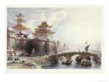 Western Gate of Peking, circa 1850 Giclee Print by Thomas Allom